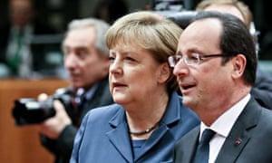 French president Francois Hollande and Germany chancellor Angela Merkel.