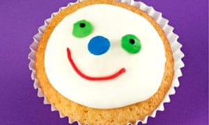 Fairy cupcake with face