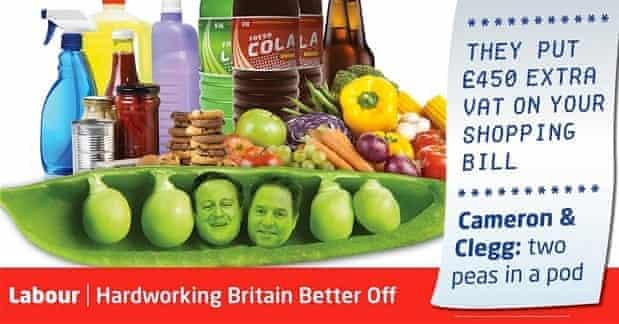 Labour 'peas in a pod' attack ad