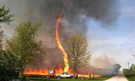 Firenado in Chillicothe, Missouri.