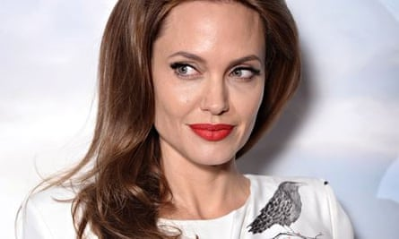 Angelina Jolie promoting Maleficent in London