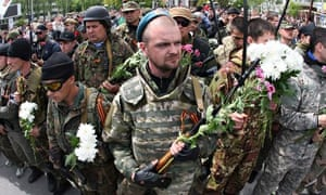 Pro-Russia militiants in Donetsk
