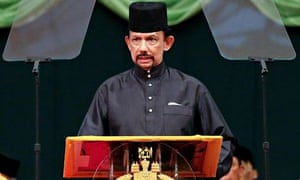 Brunei Sultan Hassanal Bolkiah delivers