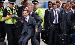 World Cup 2014  Comedian tries to sneak on to England team plane.  Jason  Bent  ... 79342645e