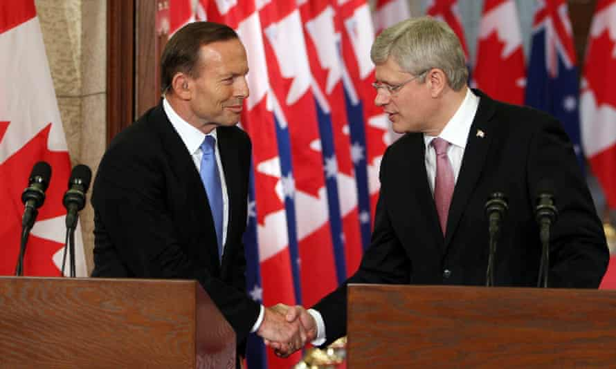 Tony Abbott and Stephen Harper