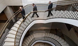 Members of Congress descend to a secure area at the Capitol to meet with national security officials for an intelligence briefing about the decision to swap captive Sergeant Bowe Bergdahl for five Guantánamo Bay detainees.