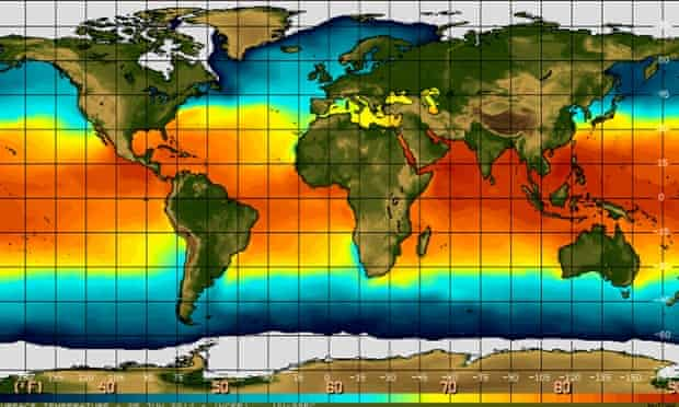 El Nino : temperatures sea surface levels 5 June 2014