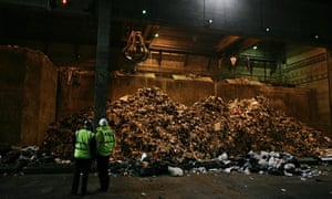 Waste arrives at at Kent Enviropower Limited's Allington Waste Management Facility, Maidstone