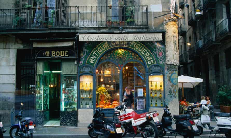 The Escriba pastry shop on La Rambla in Barcelona.