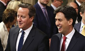 Prime Minister David Cameron Labour leader Ed Miliband.