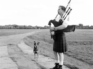 Dilly listens to Milo Thurston as he plays My dearest on earth given your kiss on the Great Highland Bagpipes