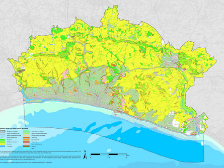 Brighton & Hove and Lewes biosphere area map