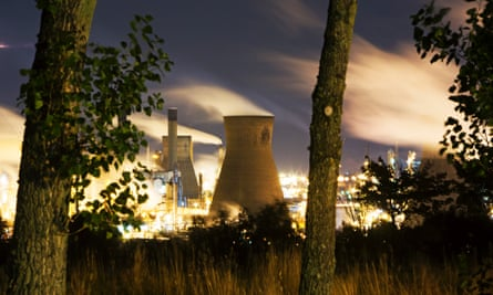 Grangemouth oil refiner. Scotland's emissions were 55.6 million tonnes equivalent of CO2 in 2012, above the target of 53.226mte CO2