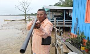 Benedito Clemente de Souza, an Amazonian activist from the Ituxi reserve.
