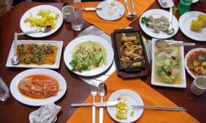Lunch in Pyongyang.