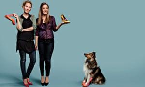 Man's best friend: Beyond Skin's Natalie Dean and Heather Whittle.