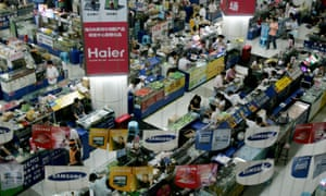 Huaqiangbei electronic markets in Shenzhen, China, is the biggest electronic products market in Asia.