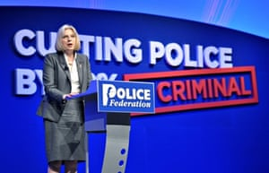 Theresa May speaks to the Police Federation.