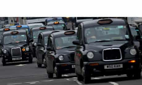 London Taxis in Central London
