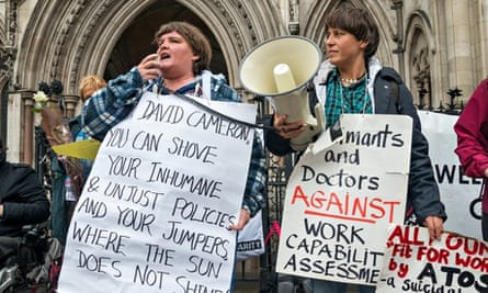 A demonstration against Atos and the work capability assessment