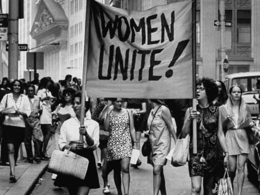 A women's liberation demonstration.