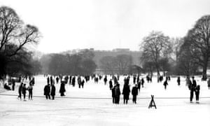 New ice age? The lake in London's St James's Park froze over in 1963