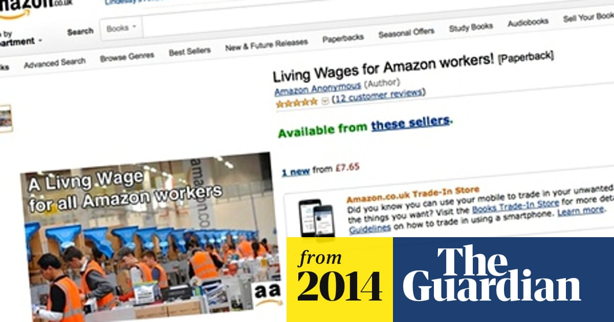 Amazon Living Wage campaigners place dummy book on site as protest