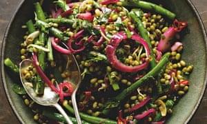 Mung bean and french bean salad