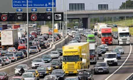 Traffic on M25