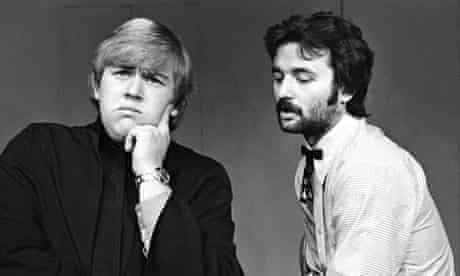 John Candy, left, and Bill Murray at the Second City in Chicago in 1973