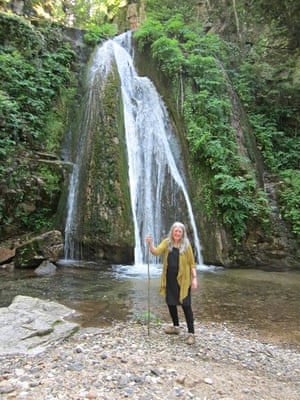 Mary Beard at Varvara falls