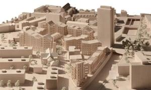 Zig-zag roofline … proposal for the Bacton Estate in Camden.