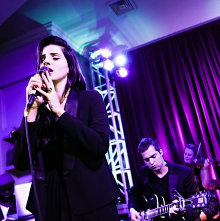 Lana Del Rey plays a private concert in New York.