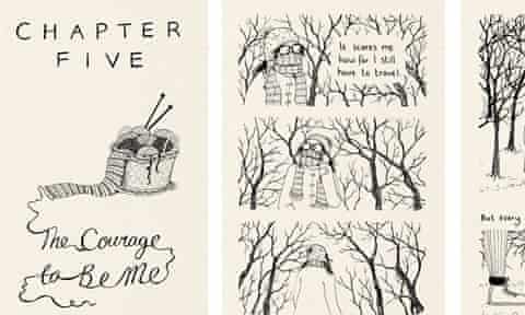 """Nina Burrowes' new graphic novel: """"The Courage to be Me"""""""