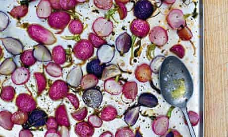 Honey-roasted radishes