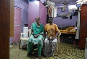 Mumtaz Ansari in her allotted house in Mumbai.