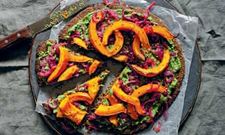 Seeded pistachio and squash galette