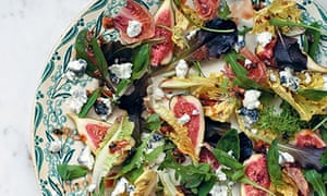 Figs with sticky date dressing