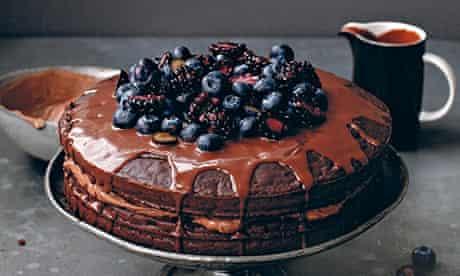 Double chocolate cloud cake