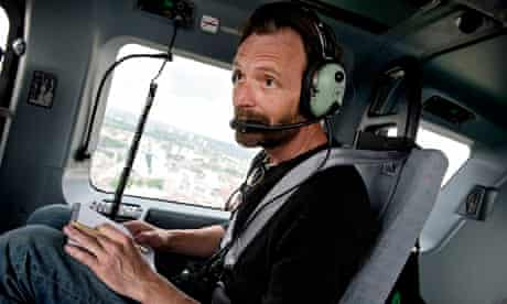 Tim Dowling in an MPS helicopter