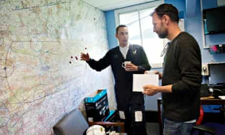 PC Donnelly shows Tim Dowling a London map