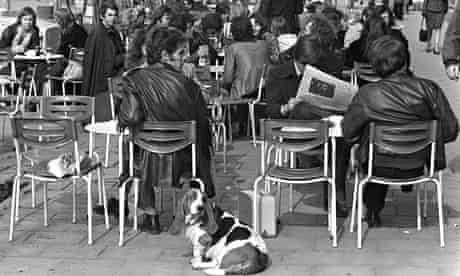 Street cafe in Munich 1974