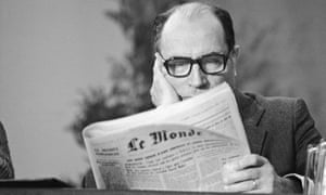 Francois Mitterrand reading Le Monde