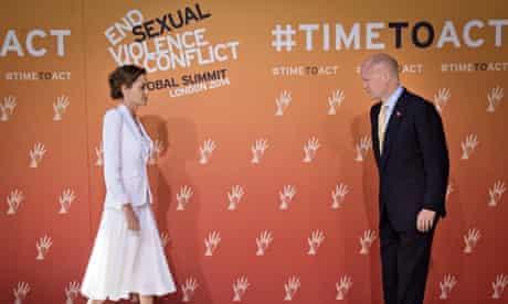 Jolie and Hague at war rape summit