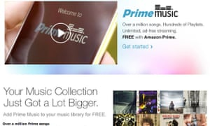 Amazon Prime Music is available in the US.