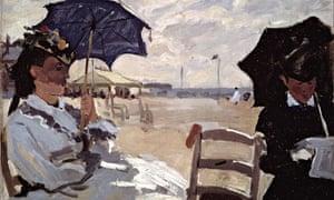 Claude Monet The Beach at Trouville (1870)