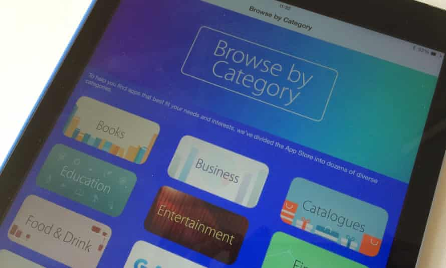 Apple is encouraging more iOS users to browse apps by category.