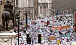 The Iraq war protest in London, on 15 February 2003