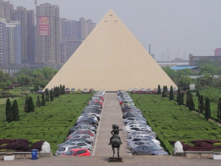 Chinese dream … A replica of the Great Pyramid at Giza terminates a Versailles axis at the headquarters of the Broad Group in Changsha, China.