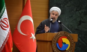 Iranian President Hassan Rouhani on a visit to Turkey earlier this week.